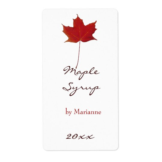 Maple syrup canning label
