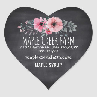 Maple Syrup Chalkboard Business Product Label