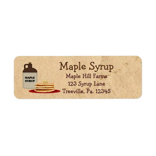 Maple Syrup Label Small