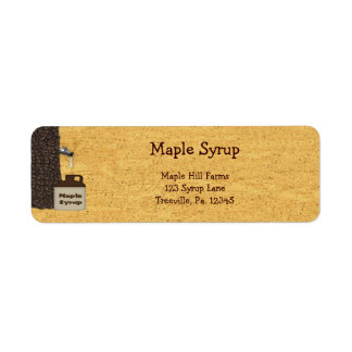 Maple Syrup Label Small Product Label