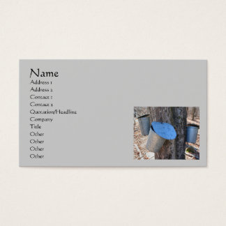 Maple Syrup Sap Buckets Business Card