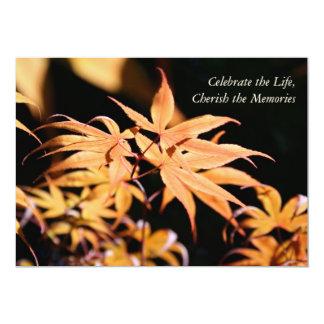 Maple Tree 1 Celebration of Life Memorial service Card