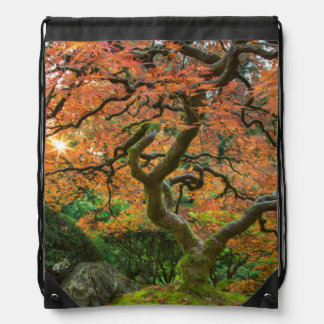 Maple Tree At The Japanese Gardens In Autumn Backpacks