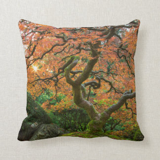 Maple Tree At The Japanese Gardens In Autumn Cushions