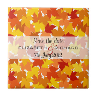 Maple tree Autumn Save the date Tile