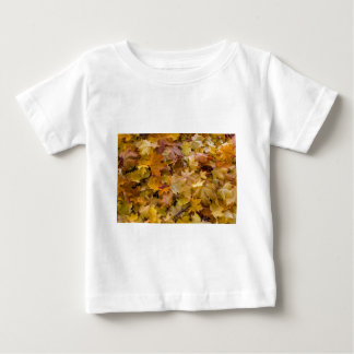 Maple Tree Fall Leaves Background Baby T-Shirt