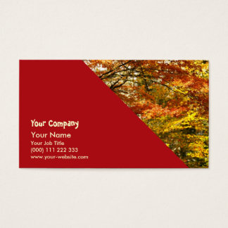Maple tree foliage business card