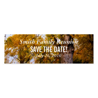 Maple Trees Reunion Save the Date Pack Of Skinny Business Cards