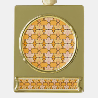 Maple waltz gold plated banner ornament