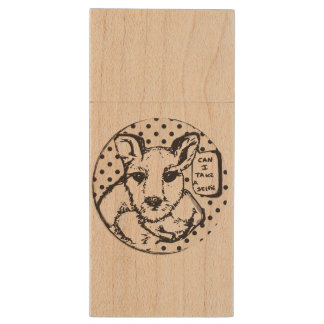 Maple Wood Kangaroo USB Wood USB Flash Drive