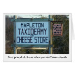 mapleton taxidermy & cheese shop note card