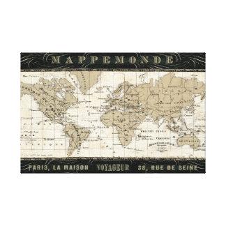 Mappemonde Canvas Prints