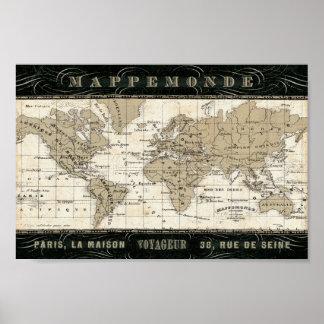 Mappemonde Print