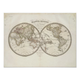 Mappemonde - World Map Poster