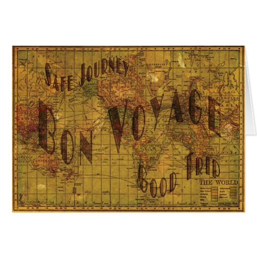 Mapping My Travels Greeting Card Cards