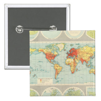 Mapping of the world 15 cm square badge