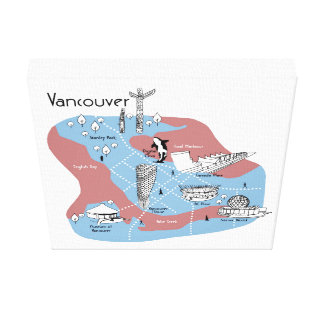 Mapping Vancouver - Original Canvas Print