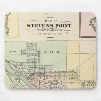 Maps of Stevens Point, Elroy and Wonewoc Mousepad