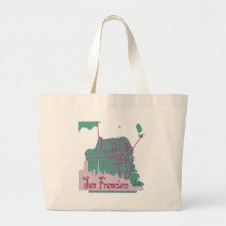 maps San Francisco Jumbo Tote Bag
