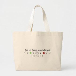 mar7Pomeranian.jpg Large Tote Bag