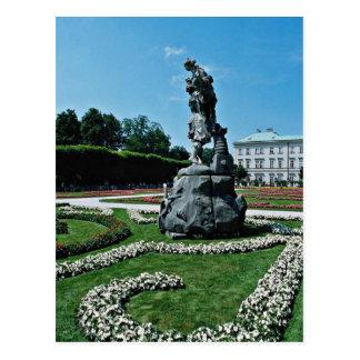 Marabell Gardens, Salzburg, Austria  flowers Postcard