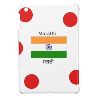 Marathi Language And India Flag Design iPad Mini Covers