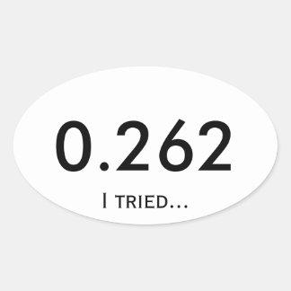 Marathon 0.262 oval sticker