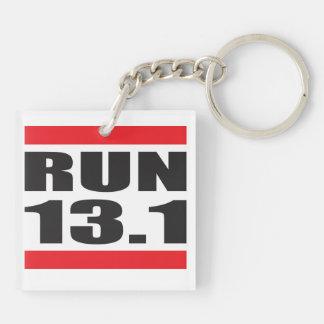 Marathon 13.1 Double-Sided square acrylic key ring