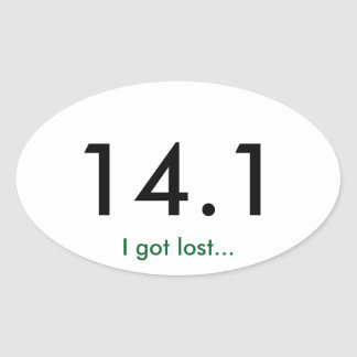 Marathon 14.1 oval sticker