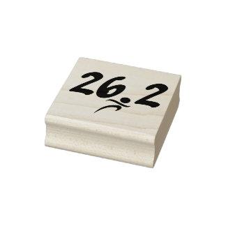 Marathon 26.2 Rubber Stamp