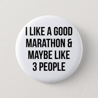 Marathon & 3 People 6 Cm Round Badge