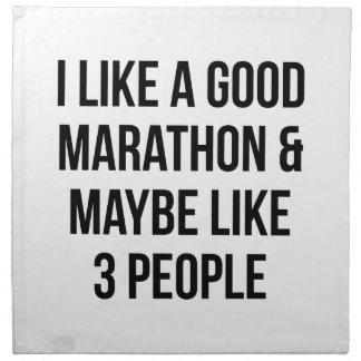 Marathon & 3 People Napkin