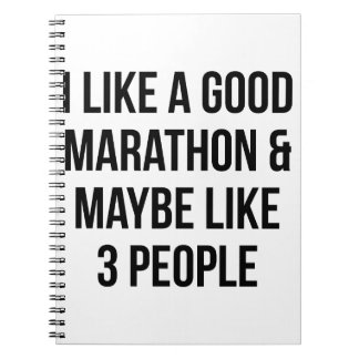 Marathon & 3 People Notebooks