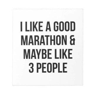 Marathon & 3 People Notepad