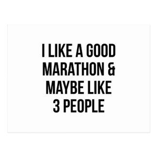 Marathon & 3 People Postcard
