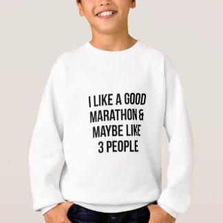Marathon & 3 People Sweatshirt