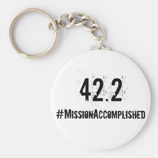 Marathon 42.2 Mission Accomplished Keychain