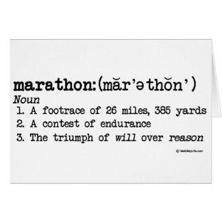 Marathon Defnition Greeting Card
