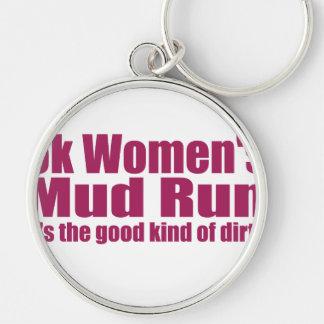Marathon Finisher Silver-Colored Round Key Ring