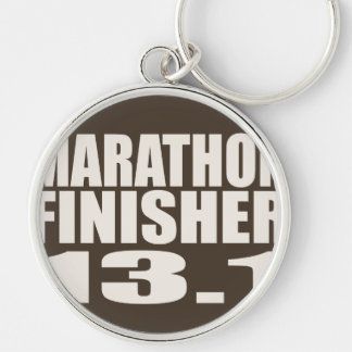 Marathon Finisher Silver-Colored Round Key Ring