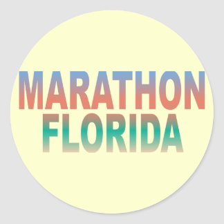 Marathon Florida Keys Classic Round Sticker