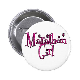 Marathon Girl 6 Cm Round Badge