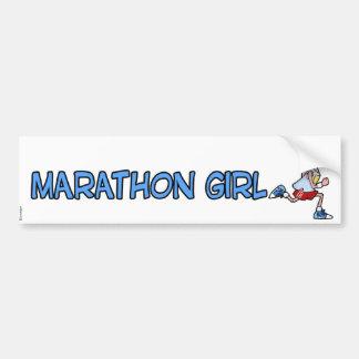 marathon girl bumper sticker