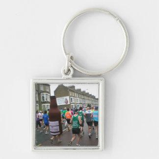 Marathon in London 2010 Silver-Colored Square Key Ring