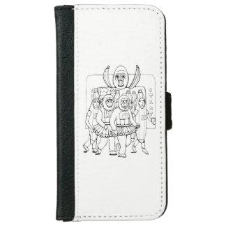 Marathon Line Art Design iPhone 6 Wallet Case