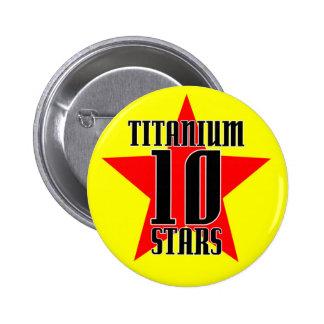 Marathon Maniacs Titanium 10 star Button