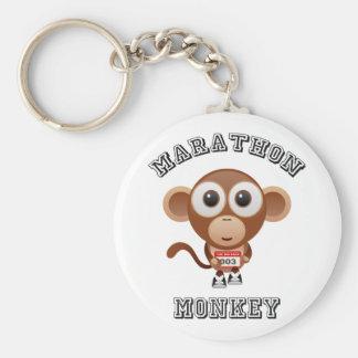 Marathon Monkey Basic Round Button Key Ring