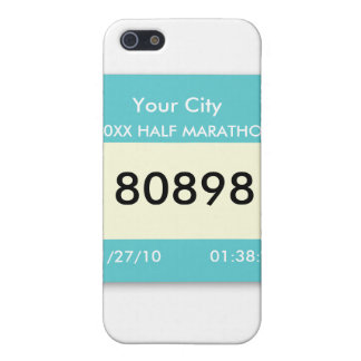 Marathon Race Bib on a  iPhone 5/5S Covers