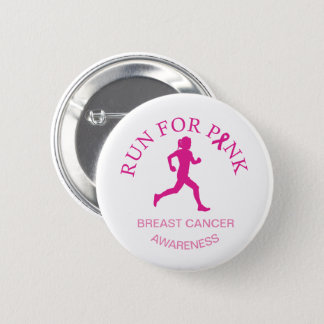 Marathon Race for Breast Cancer Awareness Button