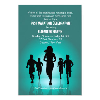 Marathon Run - Post Marathon Party Invitation